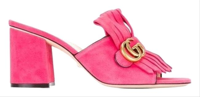 Item - Pink Marmont Suede Mules/Slides Size EU 40 (Approx. US 10) Regular (M, B)
