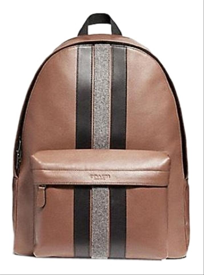 c26169344c19 Coach Men s Charles with Varsity Stripe F31347 Multicolor Calfskin Leather  Backpack