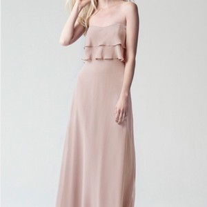 80501b52239 Jenny Yoo Desert Rose Luxe Chiffon Olivia Retro Bridesmaid Mob Dress Size 8  (M