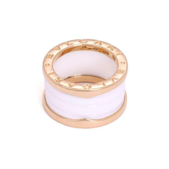 Bvlgari B Zero 1 18k Pink Gold White Ceramic 12mm Band