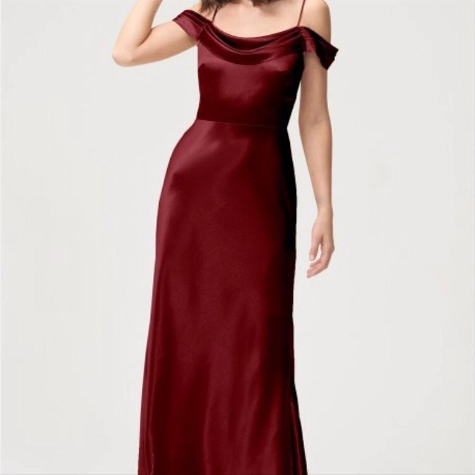 8b9634980e9 Jenny Yoo Hibiscus Satin Back Crepe Serena Feminine Bridesmaid Mob Dress