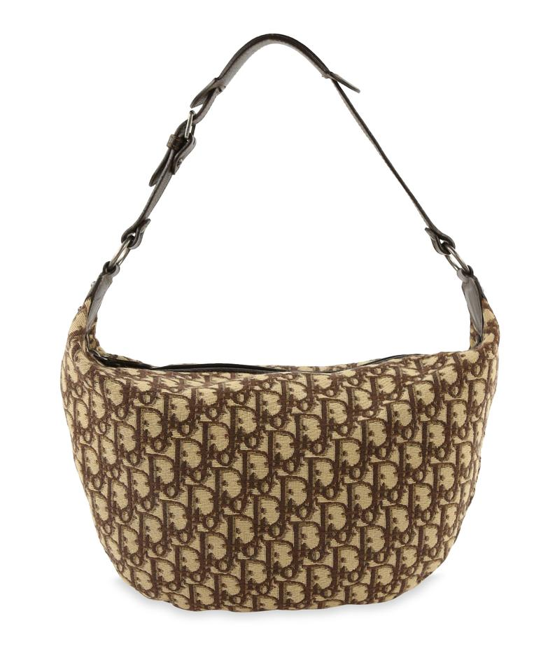 5f6375bcf Dior Buckle Oblique Brown Canvas Hobo Bag - Tradesy