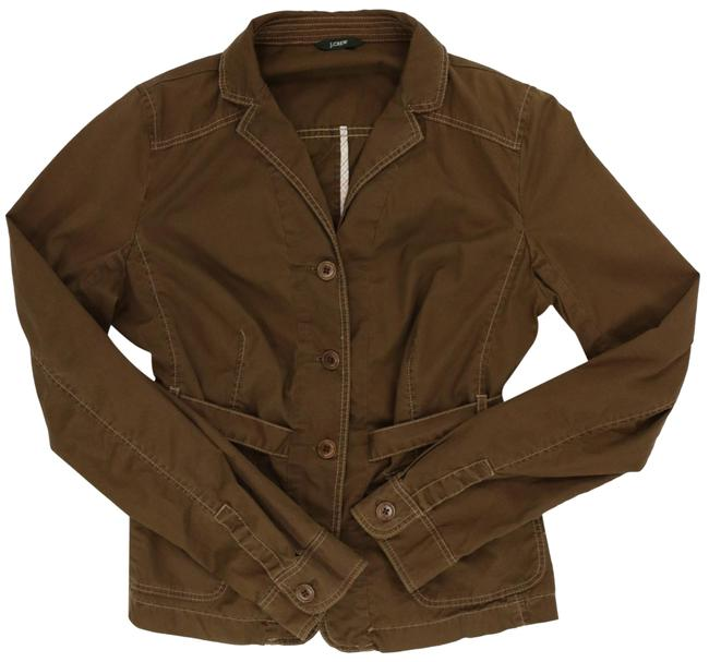 Item - Brown With Topstitching and Ties In Back Lightweight Year-round Jacket Size 8 (M)
