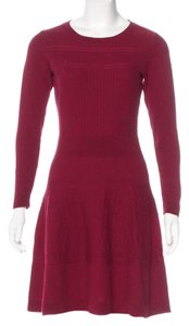 Sandro short dress Burgundy Sweaterdress Long Sleeve Cocktail Fit And Flare Cotton on Tradesy