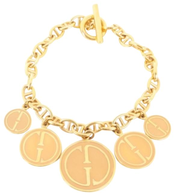 Item - Gold and Nude Massive 1992 Charm Necklace/Choker Necklace