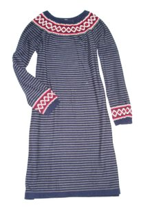 Blue Maxi Dress by Hanna Andersson Fair Isle Nordic Long Sleeve Sweater Tunic