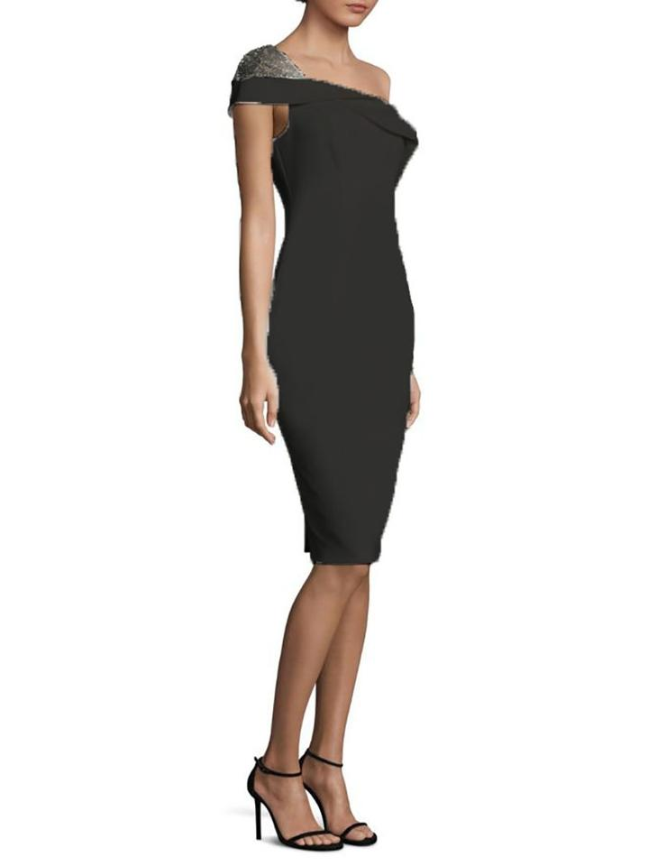 a5ab09fbe3c Black Halo Rochester Sequin One-shoulder Sheath Mid-length Cocktail ...