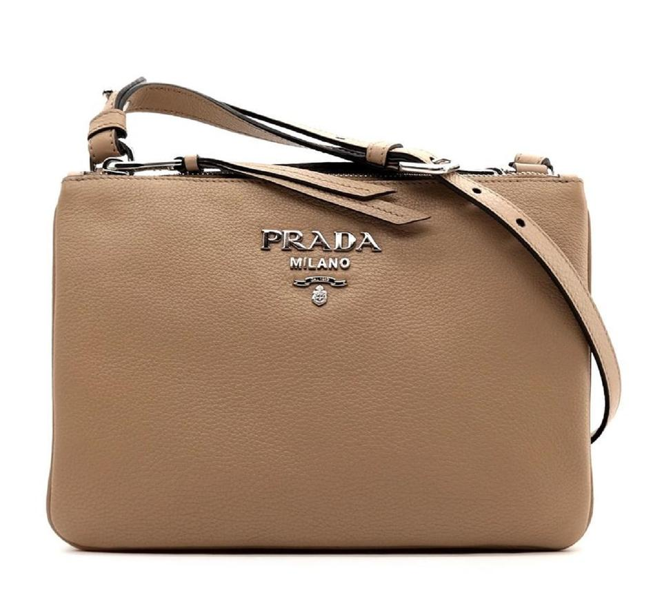 Prada Vitello Phenix Bandoliera Shoulder Crisscross Strap Cross Body Bag  Image 0 ... eddeb52f70f95