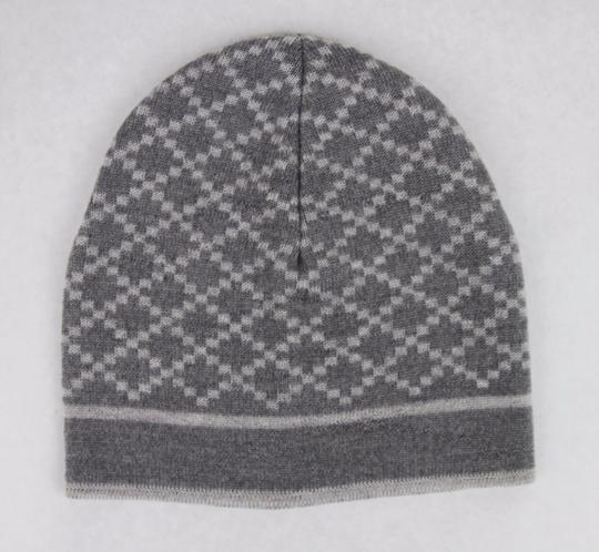 Gucci Gucci Gray Unisex Wool Beanie Hat with Diamante Pattern 281600 1463 Image 1