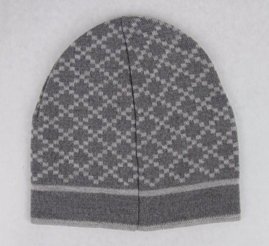 Gucci Gucci Gray Unisex Wool Beanie Hat with Diamante Pattern 281600 1463 Image 2