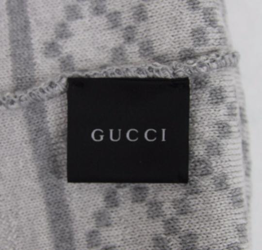Gucci Gucci Gray Unisex Wool Beanie Hat with Diamante Pattern 281600 1463 Image 3