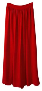 Banana Republic Maxi Skirt Red