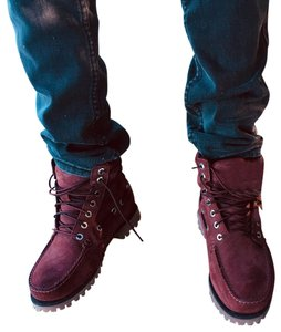 Timberland burgundy; red Boots