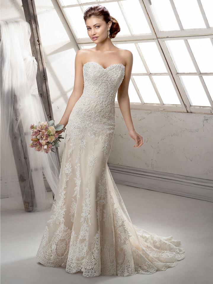 Maggie Sottero Ivory Over Lt Gold Lace Viera By Midgley Vintage
