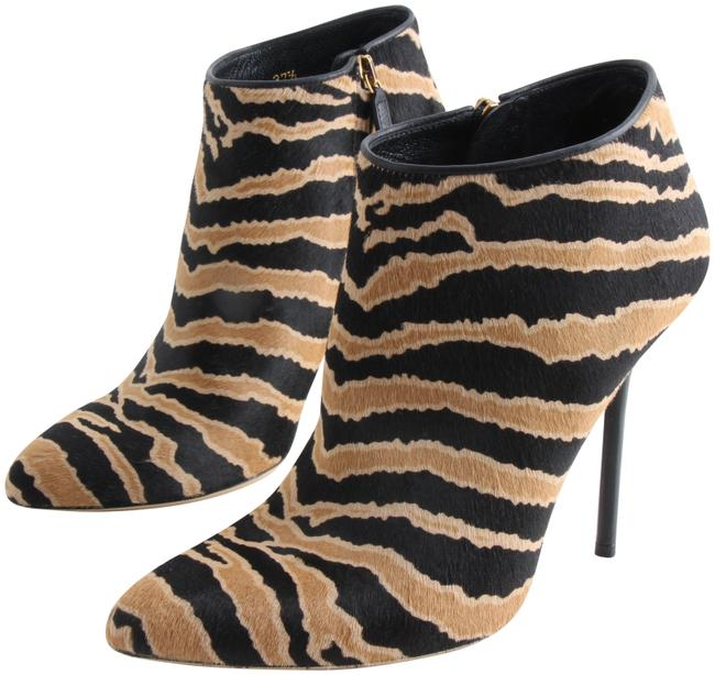 Item - Multicolor Zebra Print Pony Hair Ankle Boots/Booties Size US 7.5 Regular (M, B)