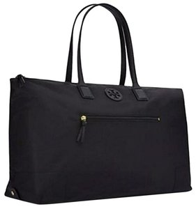 Tory Burch Leather Chain Marion Tote in Black