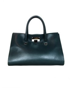 Jimmy Choo Leather Suede Tote in Green