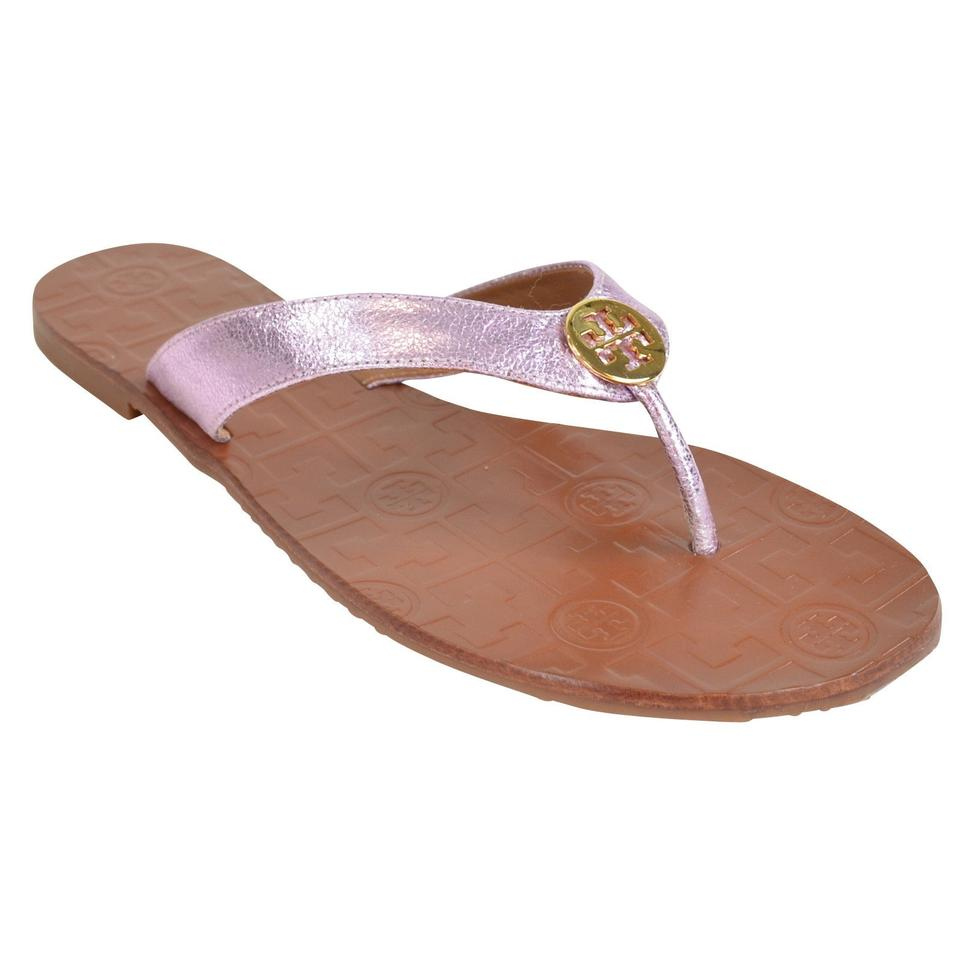 a17146de60e9 Tory Burch Metallic Rosa Thora Reverse Leather Sandals. Size  US 7 ...