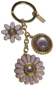 Coach Daphne Multi Mix Key fob 92477 Daisy Flowers Charm