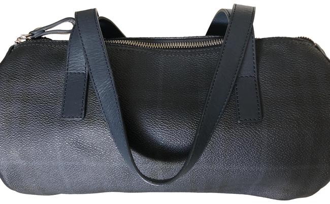 Item - Roll Blue and Gray Leather Satchel