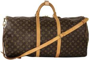 Louis Vuitton Lv Keepall Keepall Bandolliere Keepall 60 Top Handle Brown Travel Bag