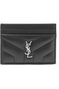 Saint Laurent quilted leather card holder