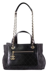Chanel Calfskin Tote in blue
