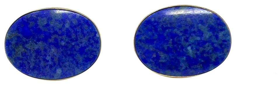 8deadcf8349bc5 Other 14k Yellow Gold Vintage Blue Oval Lapis Lazuli Stud Earrings Image 0  ...