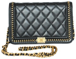 Chanel Le Boy Wallet On Cross Body Bag