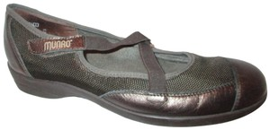 Munro American Leather Mesh Comb Last brown & copper Flats