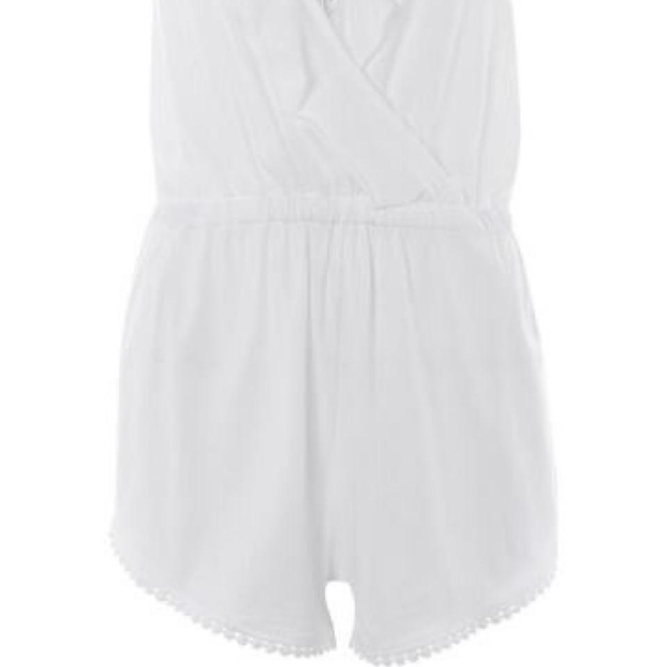 3b5cb3bab719 Topshop White Jersey Wrap Romper Cover-up Sarong Size 8 (M) - Tradesy