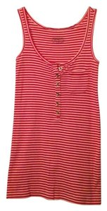 J.Crew Nautical Stripe Buttons Top Red
