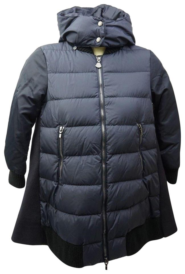1873ad221 Moncler Blue Blois Quilted and Wool-blend Puffer Girls Jacket Years ...