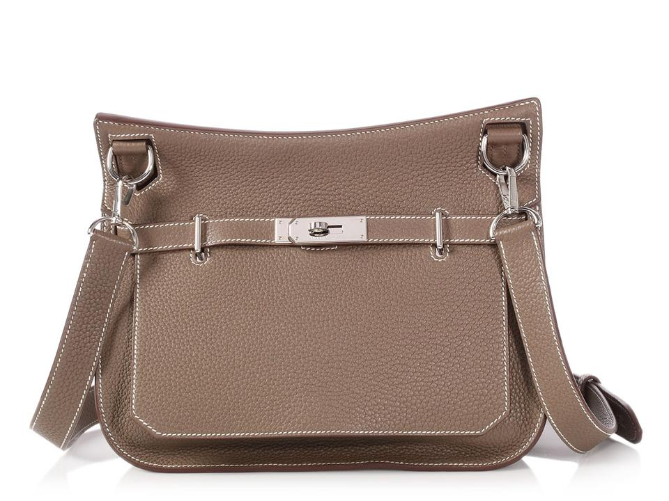 1a6ad5eb30 Hermès Hr.p1023.01 Taupe Palladium Reduced Price Cross Body Bag Image 0 ...