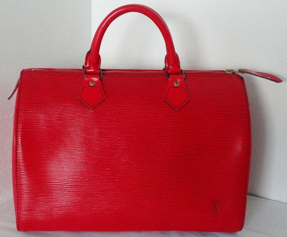 7aa9941fa3 Louis Vuitton Speedy 30 Red Epi Leather Satchel - Tradesy