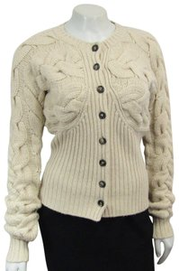 Alexander McQueen Chunky Cable Knit Wool Classic Sweater