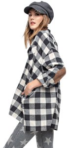8be942b726ad24 Easel Button Down Shirt Oatmeal and Black