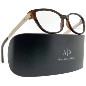 A|X Armani Exchange AX3033F-8037-54 Cat Eye Women's Tortoise Frame Clear Lens Eyeglasses
