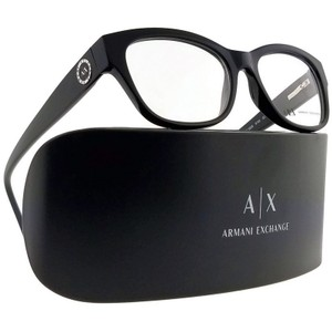 A|X Armani Exchange AX3026-8158-52 Oval Women's Black Frame Clear Lens Eyeglasses NWT