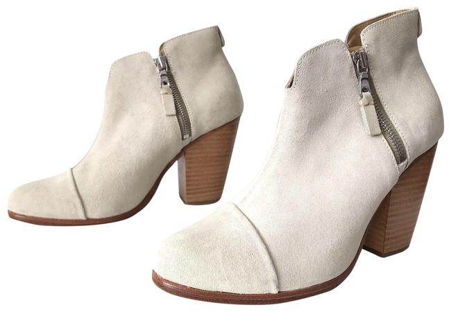 Item - Off-white Margot Waxy White Suede Leather Ankle Boots/Booties Size EU 39 (Approx. US 9) Regular (M, B)