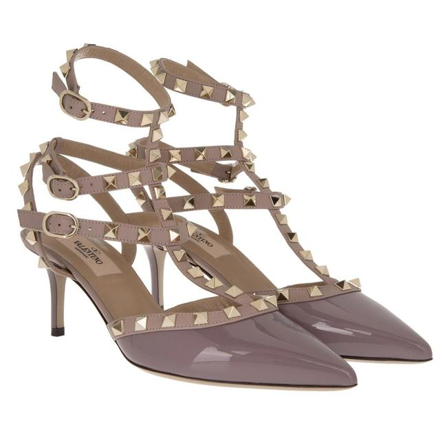 Item - Mauve Classic Rockstud 65mm Patent Leather Kitten Heel Slingback Caged Pumps Size EU 38.5 (Approx. US 8.5) Regular (M, B)