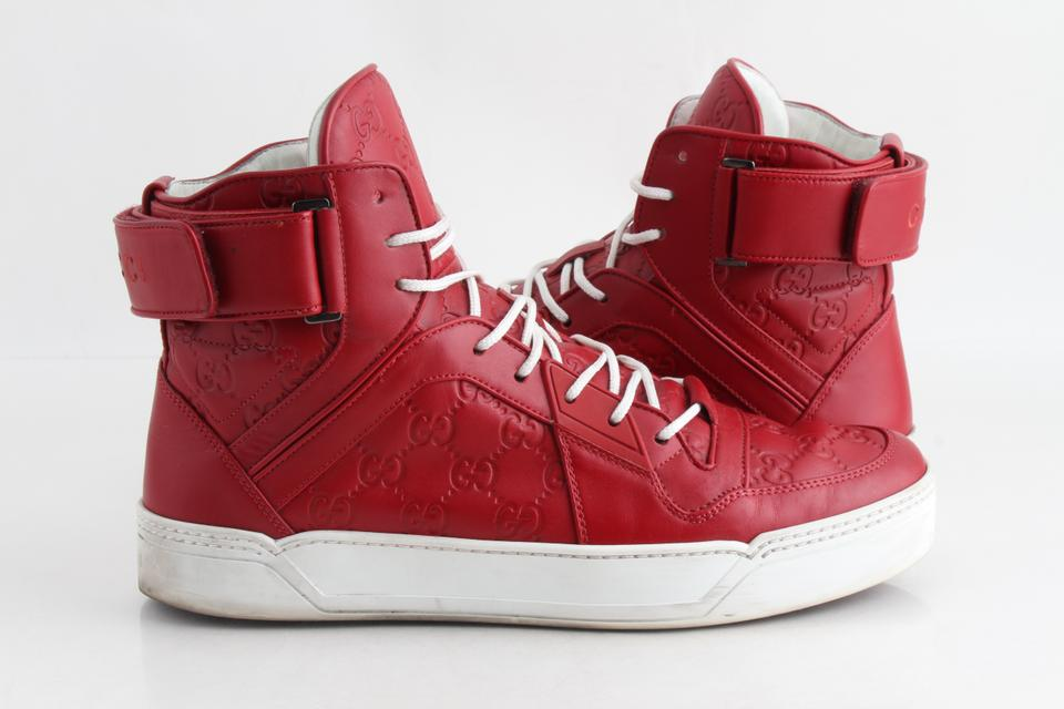 fa580fb106d Gucci Red Basketball  High Top Sneakers Shoes Image 0 ...