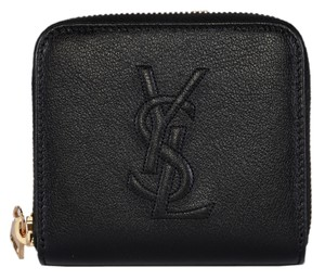 Saint Laurent New Saint Laurent YSL 352906 Black Leather Belle de Jour Zip Around Sm