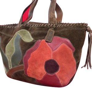 Coach Tote in Brown Multi