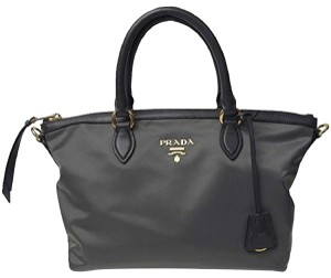Prada Designer Nylon Handbag Satchel in Grey