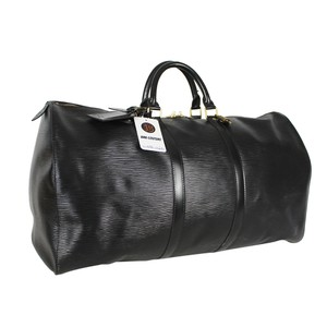 Louis Vuitton Epi Keepall 55 Boston Black Travel Bag