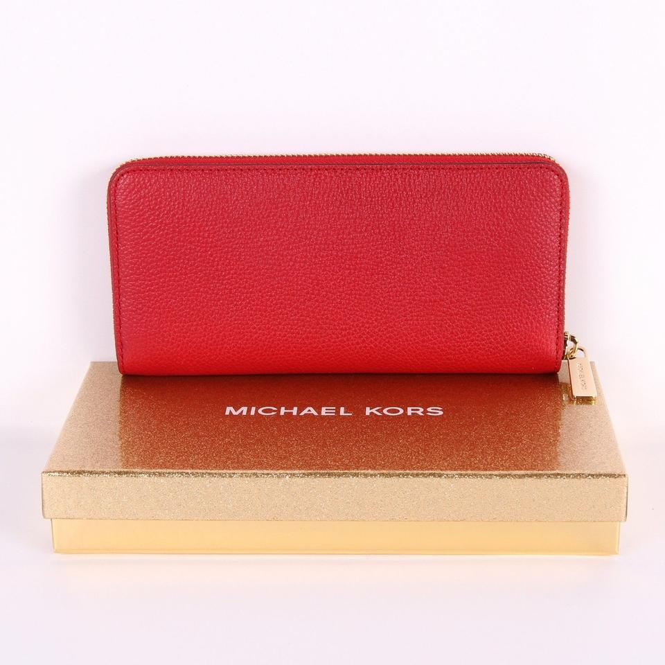 c7e3d9942f43 Michael Kors MICHAEL KORS ADELE ZIP AROUND CONTINENTAL WALLET CLUTCH in Box  Image 7. 12345678