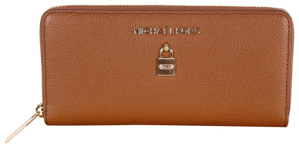 22ac757078fe Michael Kors Luggage Adele Zip Around Continental Clutch In Box ...