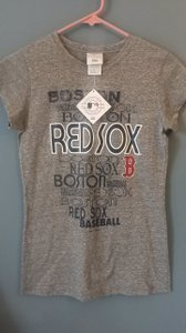 Majestic MLB Silver Sleeve Cotton Rayon T Shirt Gray