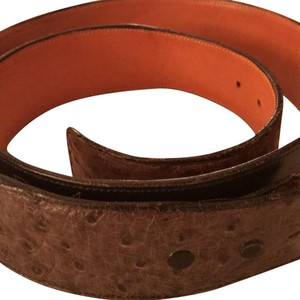 Lucchese Lucchese ostrich leather belt